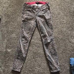 genetic denim leopard print brown jeans KARLIE